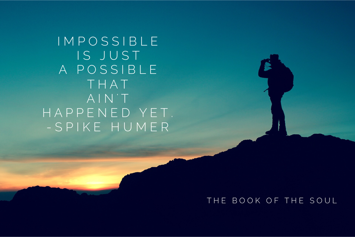Impossible is just a possible that hasn't happened yet. #possibllities https://t.co/HBDLZwNlKy