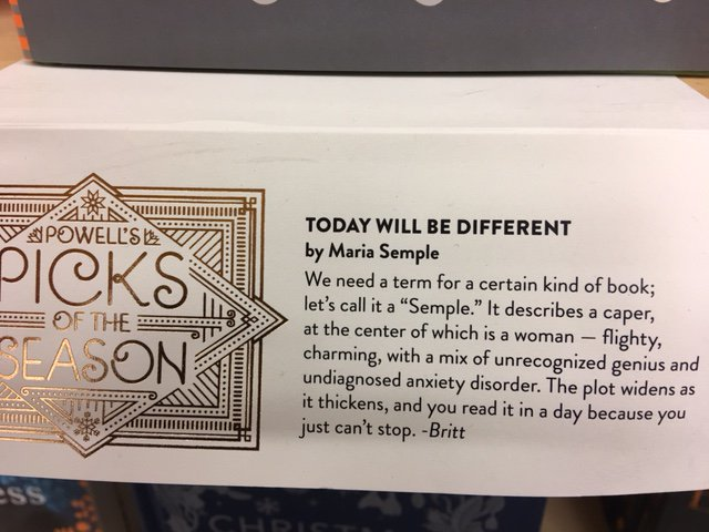 Spotted @Powells @_MariaSemple #Portland #LetsCallItASemple