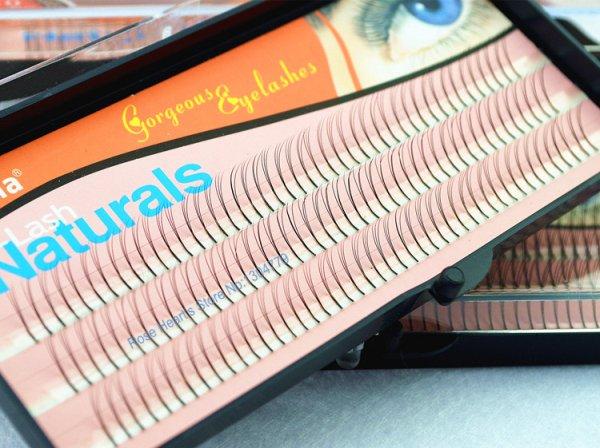 30 Packs Individual False Eyelash Lashes Eyelashes Extension Strips Mix Size 8mm/10mm/12mm Non Knot C-Lash 0.12mm Flares Black