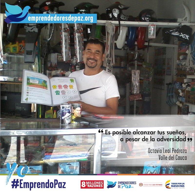 Apoya el taller de sueños de Octavio. https://t.co/pxCEgVq5c5 #EmprendoPaz #8MillonesDeRazones #ValleDelCauca https://t.co/MZSv9h548q