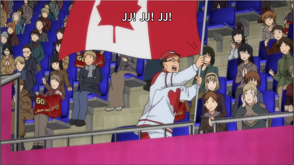 Image result for yuri on ice man with canadian flag