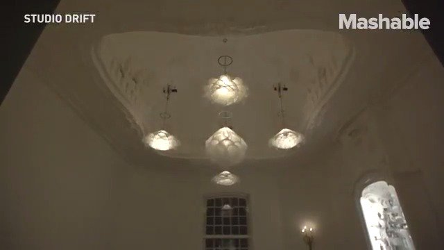 These 'blooming' chandeliers are incredible