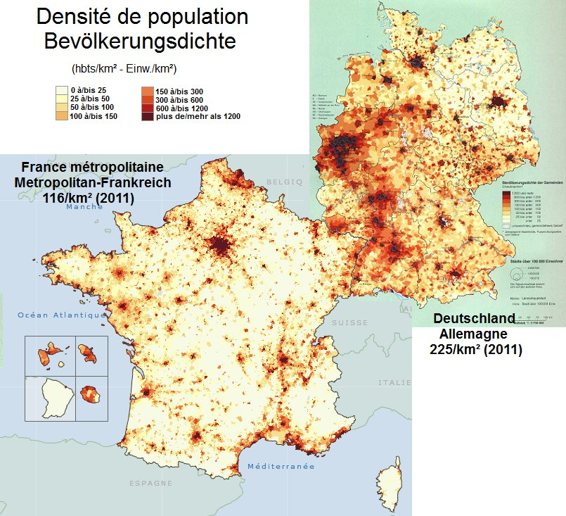 Population Density Map Of Germany.Onlmaps On Twitter Population Density In France And