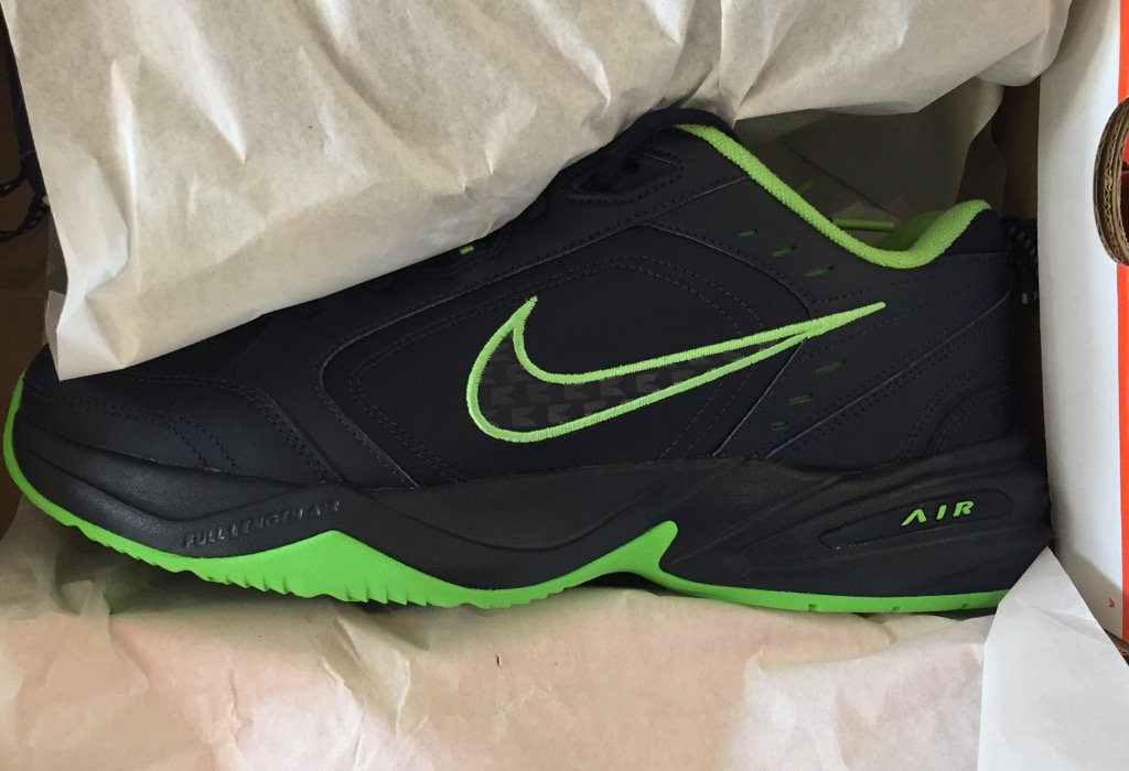 pete carroll is ditching his white air monarch shoes for this version which  nike made for d26e7a444