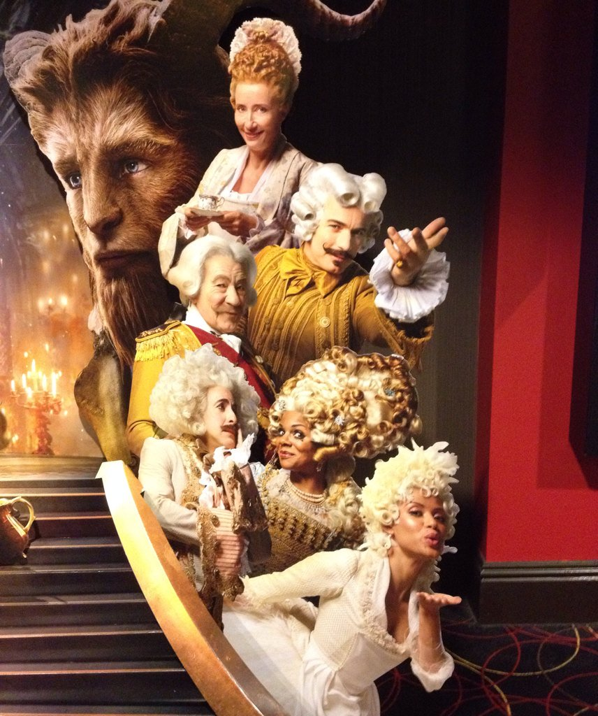 BEAUTY AND THE BEAST Theater Standee Gives Us A First Look At The Castle Staff In Human Form