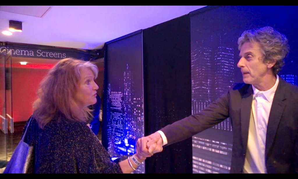 Lovely moment tonight: Leela and the Doctor reunited as @Lou_Jameson greets Peter Capaldi. Spin-off? #DoctorWho https://t.co/TQEYoOMa41