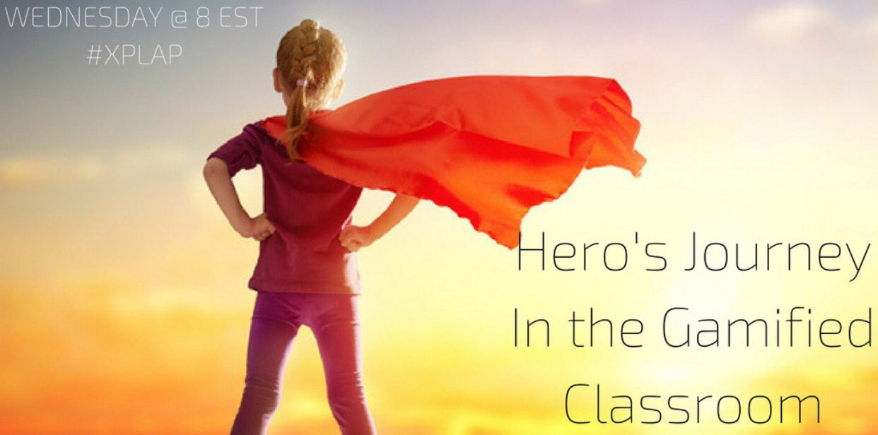 45 minutes and the #XPLAP crew will be discussing the Hero's Journey in the #Gamified Classroom!  Please join us!! #TLAP #ditchbook https://t.co/y9nQHyYHf9