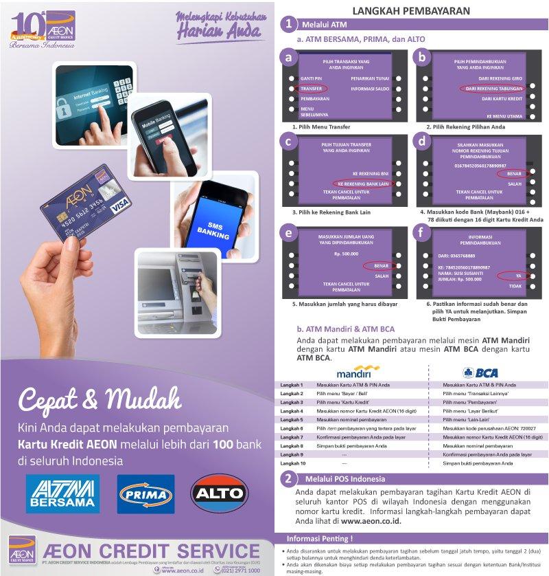Tips Cara Bayar Aeon Lewat M Banking Bca mudah