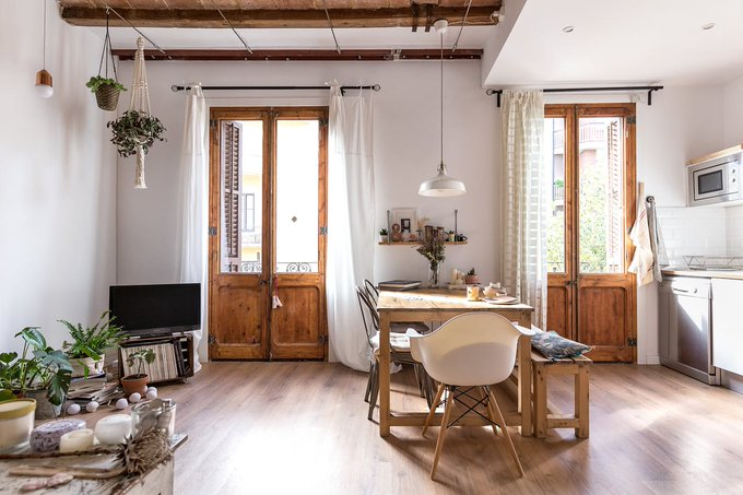 House Tour: A Light Rustic Remodeled Barcelona Home