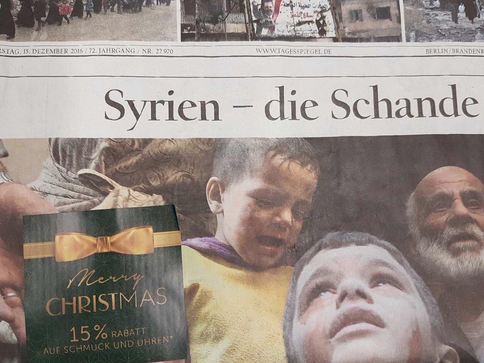 Tagesspiegel-Titel, Quelle: Twitter Tagesspiegel