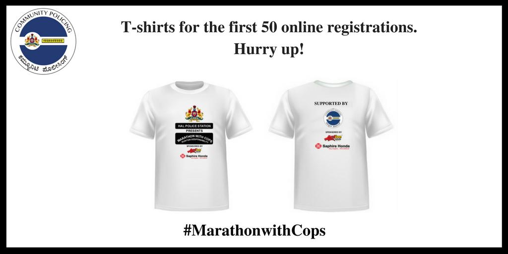 Register through  #MarathonwithCops @halbcp @BlrCityPolice  #CommunityPolicing