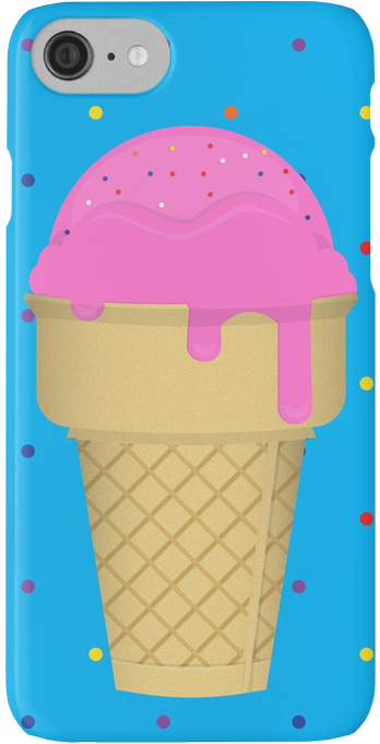 'Ice Cream Drippin'' iPhone Case/Skin by CTRLPrintables