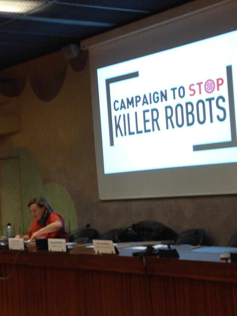 @marywareham getting ready to brief delegates on @BanKillerRobots at #CCWUN https://t.co/T1V2qFUp6A