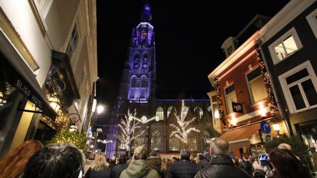 Nieuwe verlichting Grote Kerk start me lichtshow | Breda | Nederland ...