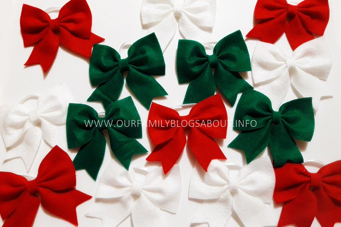 Tutorial: DIY Felt Cloth Bow for Christmas Tree
