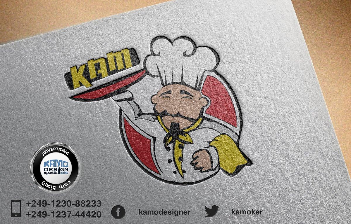 Kamodesigner على تويتر من اعمالنا تصميم شعار مطعم كام Kam وتصميم لافتات واستيكرات