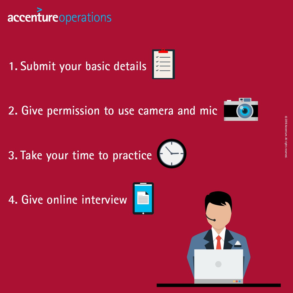 accenture jobs on twitter take time to think prepare accenture jobs on twitter take time to think prepare each answer to calmly record your online interview for accenture
