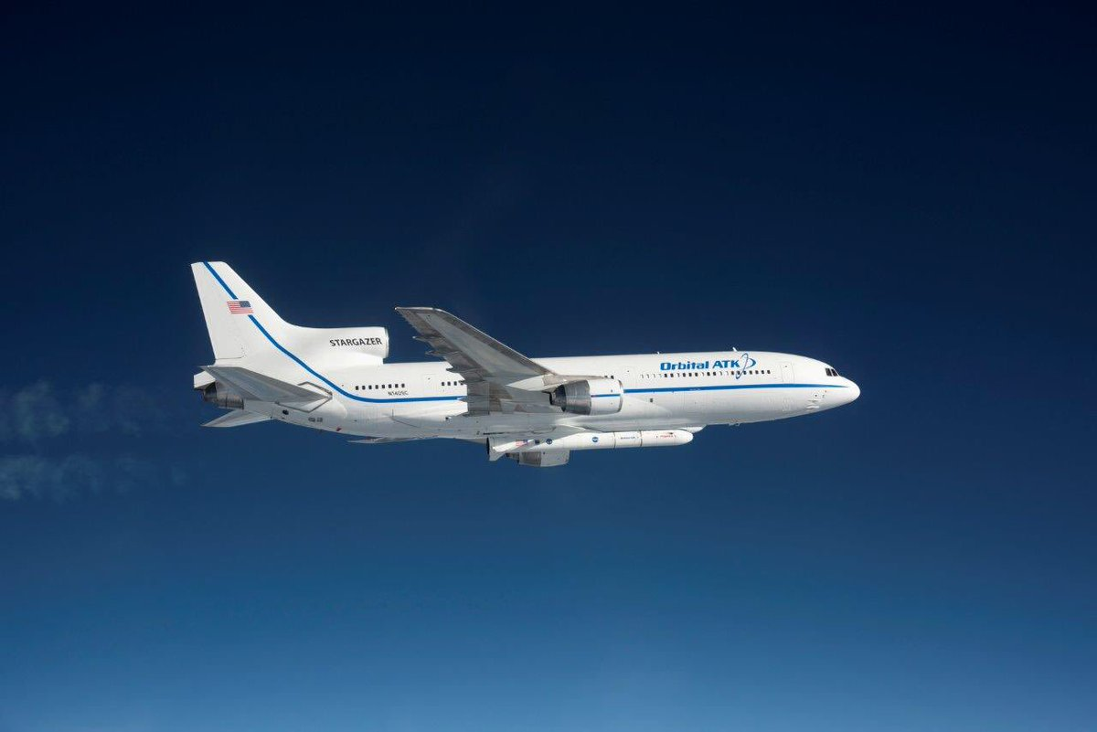 Our #Stargazer airplane carrying our #Pegasus rocket to the drop area now, watch live on @NASA_TV #CYGNSS @NASA_LSP