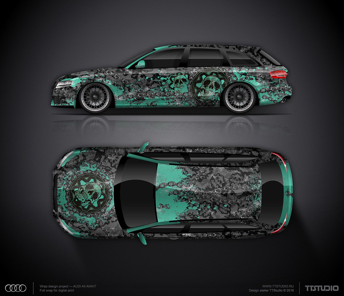 Alexander On Twitter Design Concept Skulls Camo For Audi Rs6