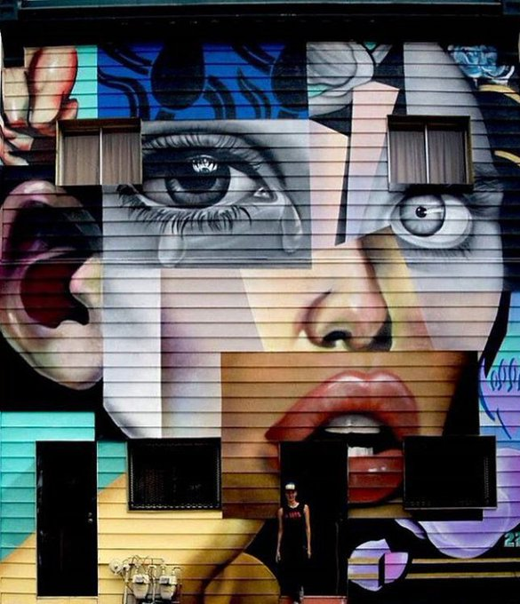 Colorful #Beauty Puzzle – #Creative #StreetArt