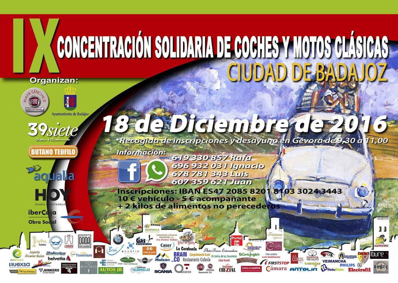 IX Concentración solidaria de coches y motos clásicas Ciudad de Badajoz https://t.co/FQbU8rfr3G