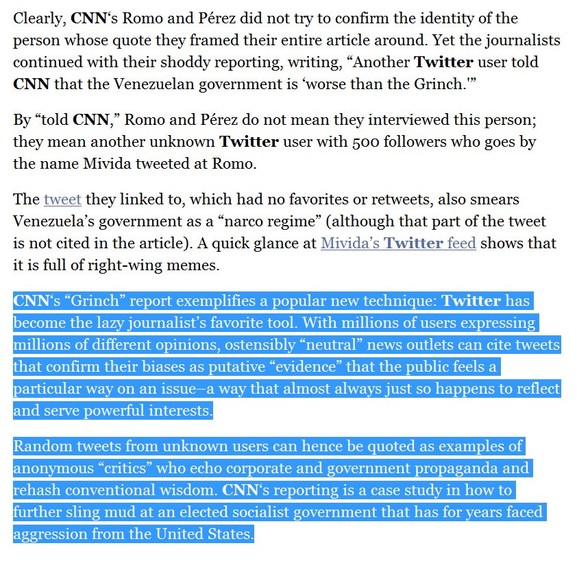 Ben Norton On Twitter Cnns Dishonest Venezuelan Grinch Story