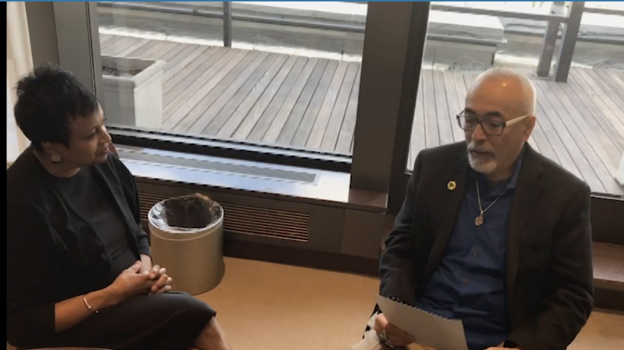 ICYMI: Poet Laureate Juan Felipe Herrera welcomes Dr. Carla Hayden to the Library with a personalized poem.  https://t.co/eGlqajYCe5 https://t.co/asvk9kJpNL