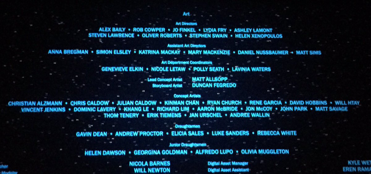 Some of the talented folk who worked on #RogueOne , very proud to be counted amongst them :) https://t.co/FPw7AppZZw
