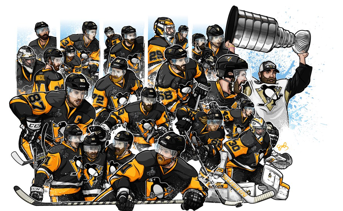 This year's @penguins illustration is finished! Check it out at https://t.co/bK96JiXYpZ https://t.co/oKIfTI0imR