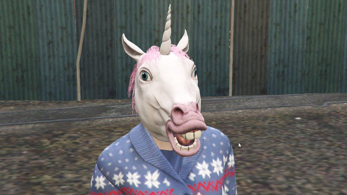 All Christmas Mask Gta 5.Foxysnaps Gtav News On Twitter Unicorn Mask From
