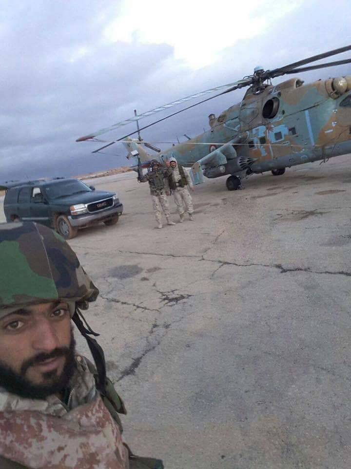 SyAF Mi-25 reportedly inside Tiyas Airbase in East Homs. Heavy clashes raging in that area  and  intense ISIS shelling with Grad rockets.