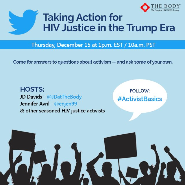 TODAY 1p ET! #ActivistBasics Twitter chat feat. phenomenal #HIV justice warriors + me on the wheel @TheBodyDotCom https://t.co/FaCiWsFErh https://t.co/ipfFuS632F