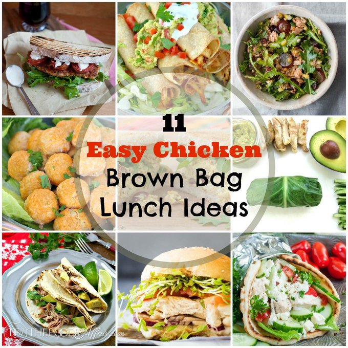 11 Easy Chicken Brown Bag Lunch Ideas (trim your budget)!
