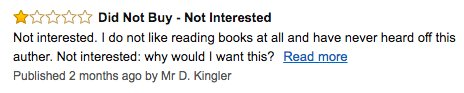Great Amazon book review. https://t.co/DPM1pwx9ju