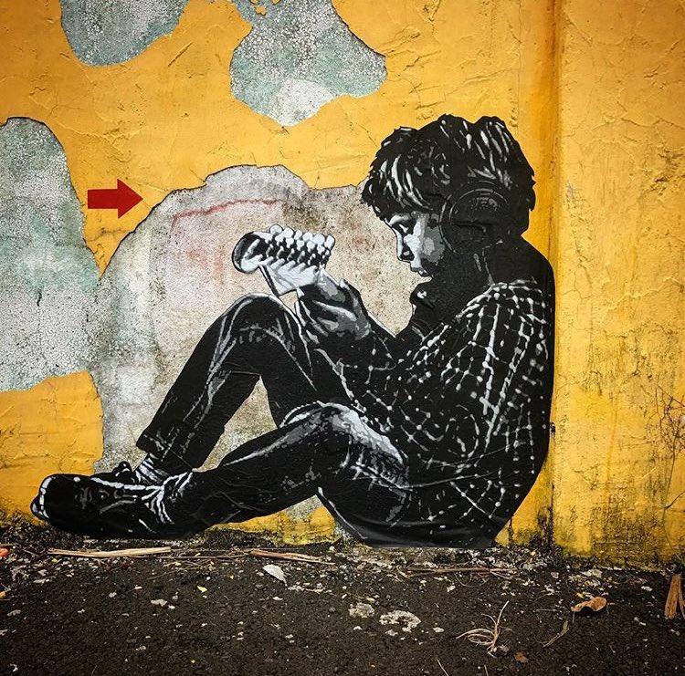 New Street Art by Jef Aerosol   #art #mural #graffiti #streetart