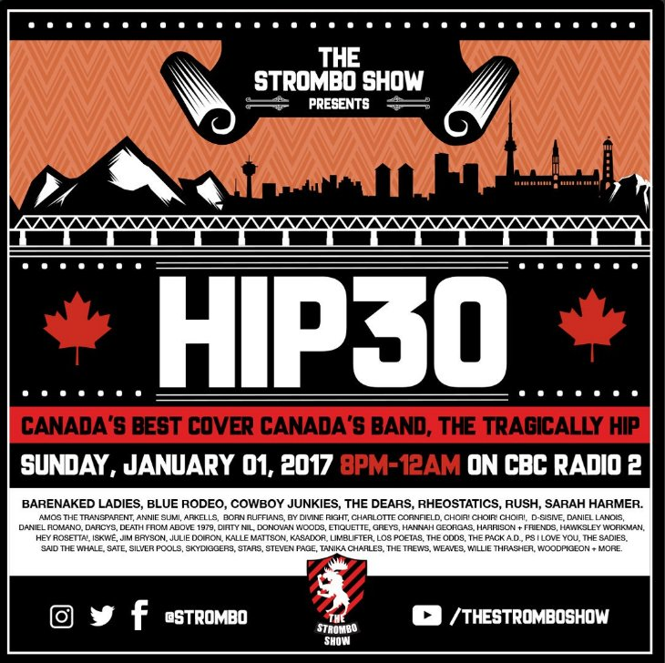 BTW: Honoured to be part of this New Year's Day radio moment on the @TheStromboShow celebrating The Tragically Hip. https://t.co/nVQzBGKpGZ