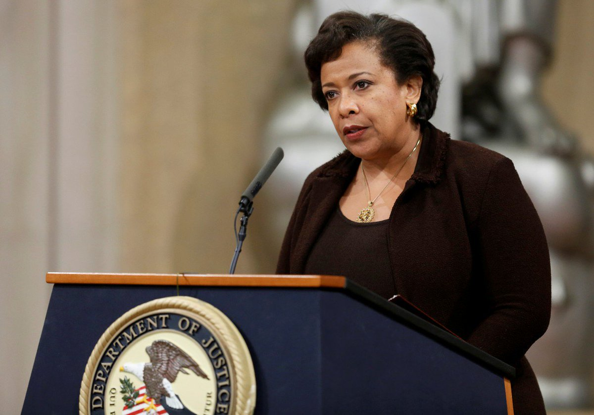 Loretta Lynch's speech against hate crimes is a brilliant, stinging rebuke to Trumpism: https://t.co/YpUGILRWXs
