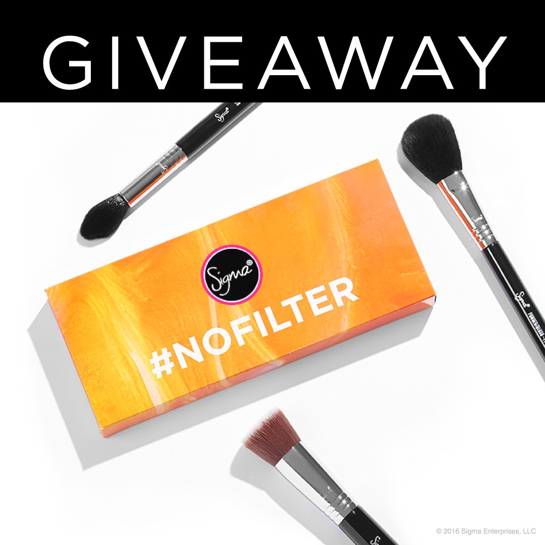 #Retweet and follow #SigmaBeauty for a chance to win our #NoFilter Gift Set! ✨ Winner will be announced tomorrow! https://t.co/XIJ7nDFraj