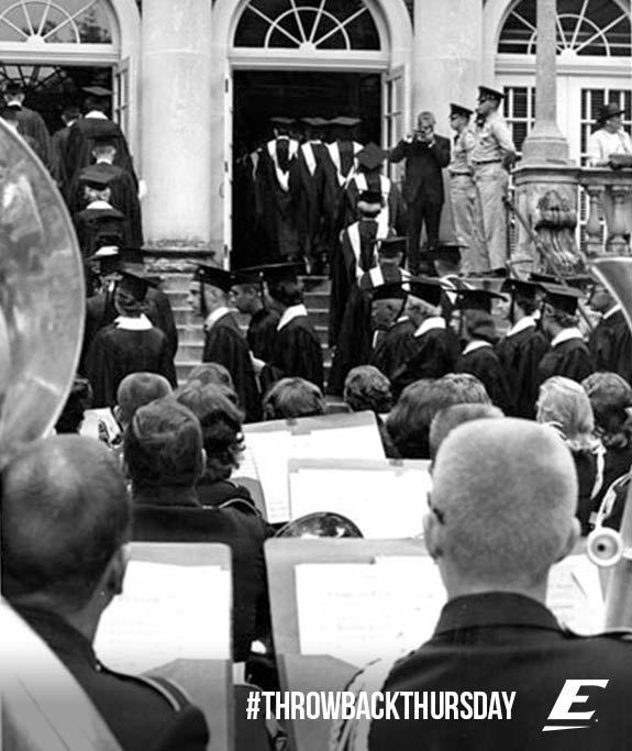 1962 #tbt Graduates filing into Coates Building for #EKUGrad ceremony #EKUArchives #EKUPeople https://t.co/wjFWMlKQEN