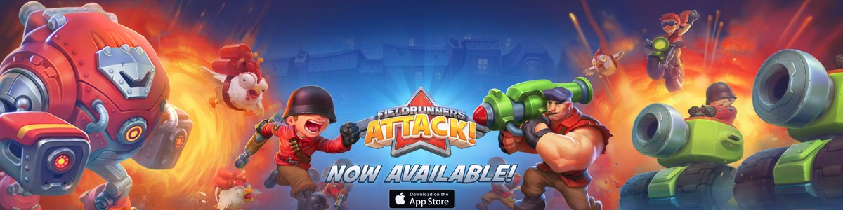 Hey there, Runners! Fieldrunners Attack! is now available in the App Store! https://t.co/MNGIoLzjOZ https://t.co/mLwD7HMU7Y
