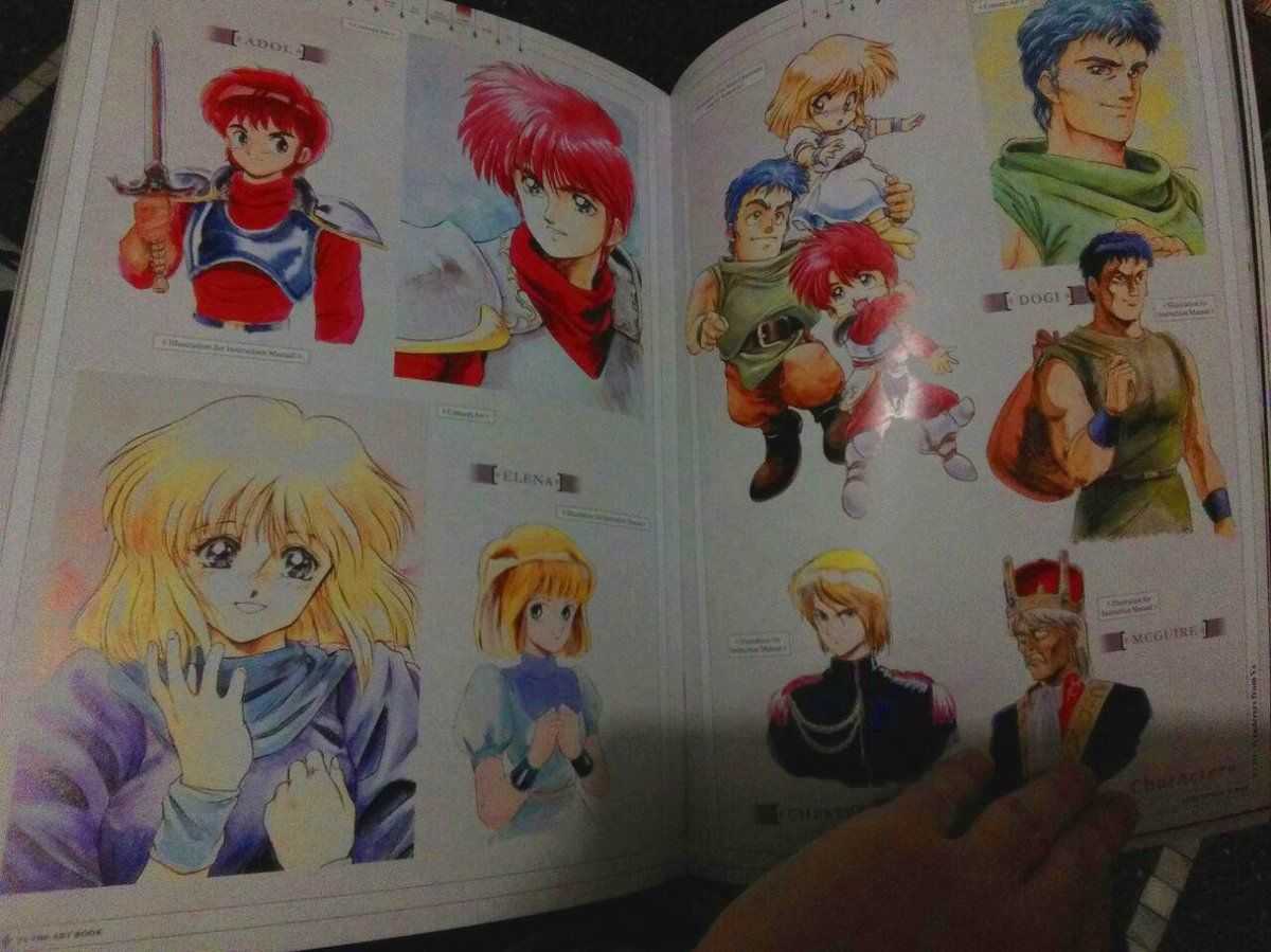 Friendly reminder that this is how Adol & friends looked like before The Oath in Felghana. I know you didn't want me to remind you xD #YsIII