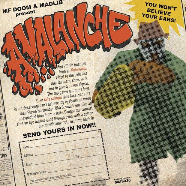 "Madlib & DOOM (aka Madvillain) release ""Avalanche,"" their first single in years https://t.co/5DSxQzAvIx https://t.co/pMznXitdlk"