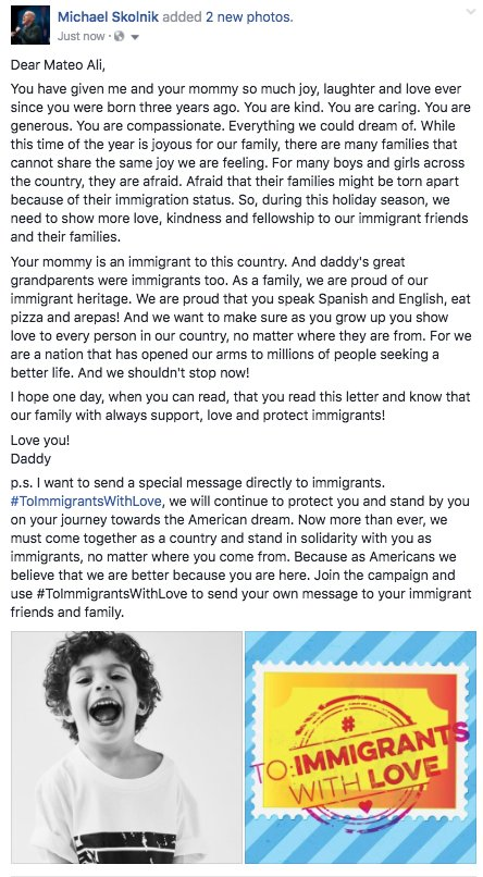 I wrote a letter to Mateo Ali.  I hope he reads it one day. #ToImmigrantsWithLove https://t.co/YLz77cneQF