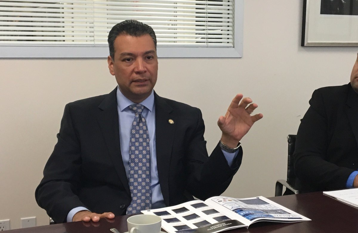 Secretary of State Alex Padilla (John Myers / Los Angeles Times)