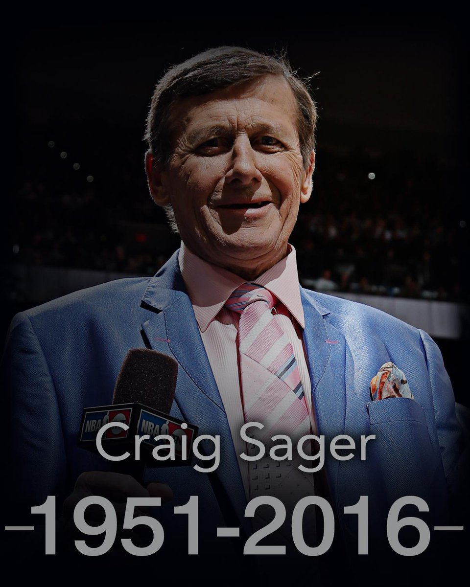 Long-time NBA broadcaster Craig Sager has died. He was 65 years old.