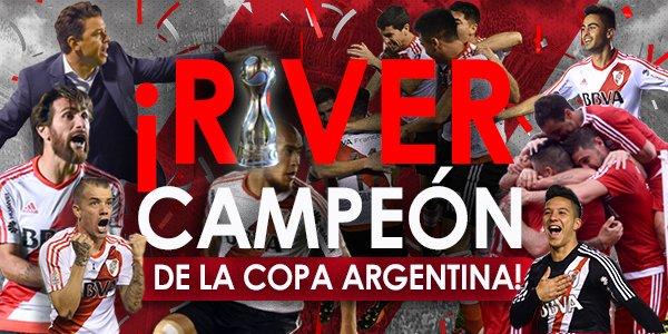 ¡¡¡#RIVER CAMPEÓN DE LA COPA ARGENTINA!!! ¡¡¡VAMOS, MILLONARIO!!! ¡¡¡VAMOS, #RIVER!!!
