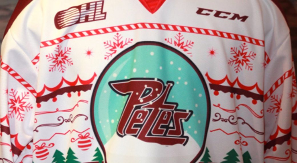 6026bd9dbb9 the peterborough petes will be wearing ugly christmas sweater jerseys  tonight against the london knights