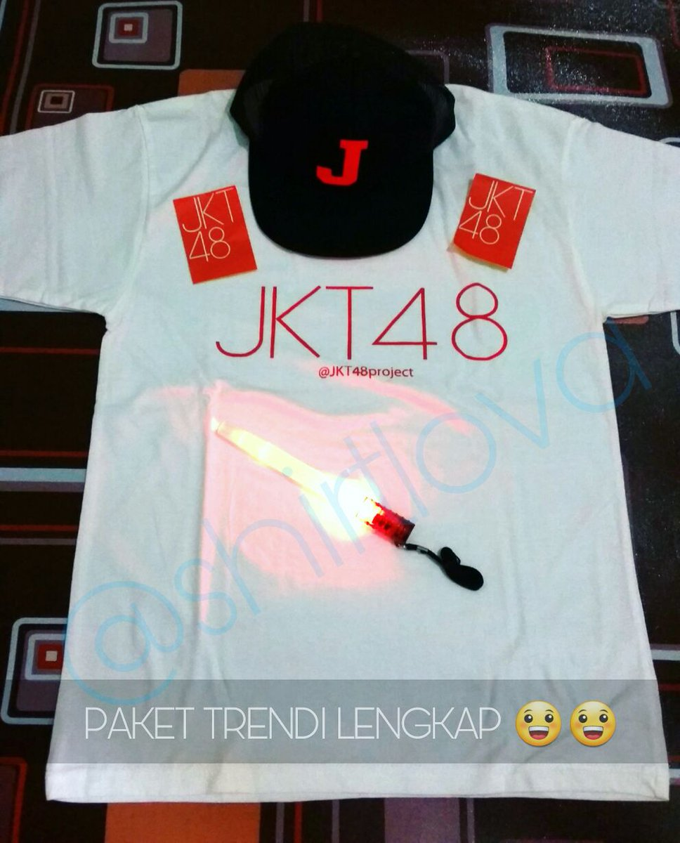 Desain t shirt jkt48 -  Jkt48atmissionxttv Paket Trendi Cuma 165k Dpt Kaos Jkt48 Bebas Topi Jkt48 Bebas Lightstick Bebas Sticker Https T Co Talrijsf4s