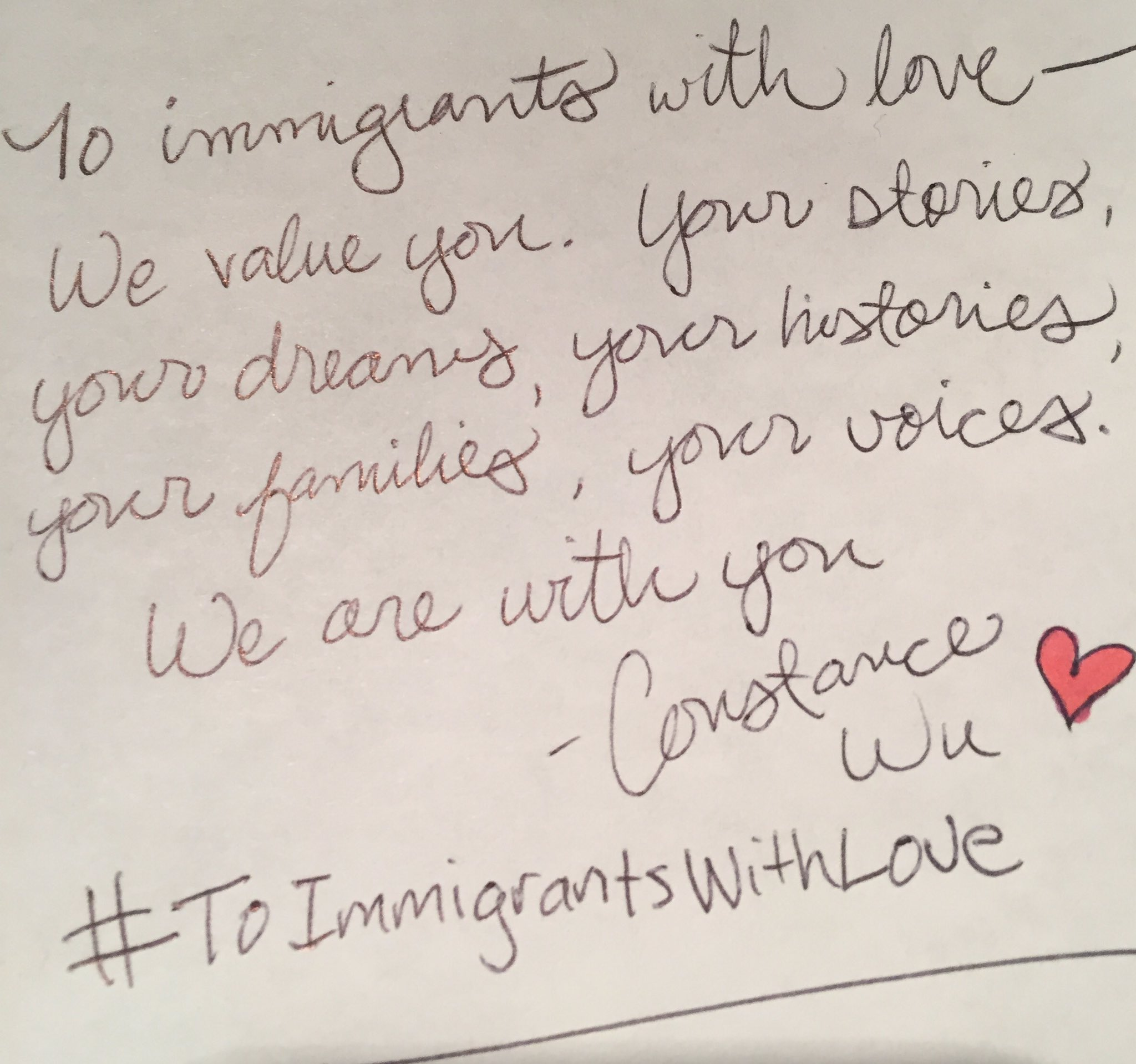 Write a letter #ToImmigrantsWithLove ❤️ https://t.co/ZE35dHNdFI