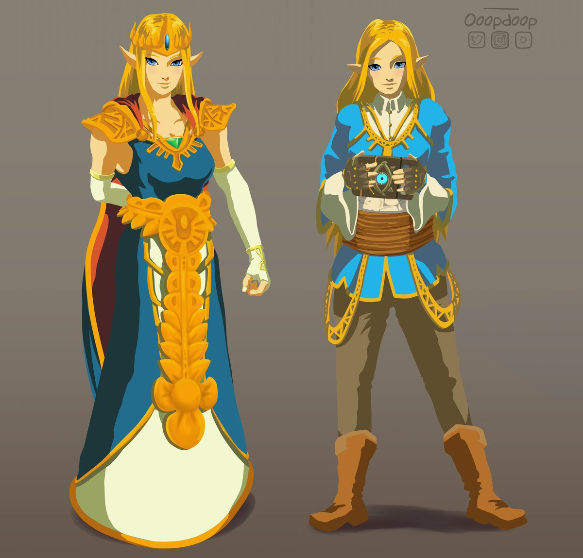Zelda Character Design Breath Of The Wild : Ookami shi no twitter